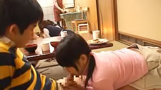 Cute Asian Teens Take a Facial Cumshot as Dessert