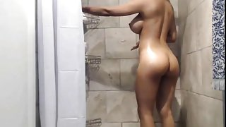 Hot sister taking a shower