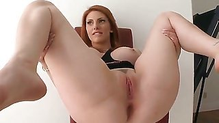 Lilith Lust is a ginger bombshell. Her round ass will leave every boner hard and her big tits every mouth salivating. Her perfect pussy gets licked here with great lust.