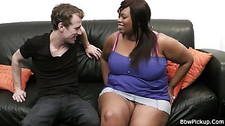 Ebony plumper gets pounded by golf coach