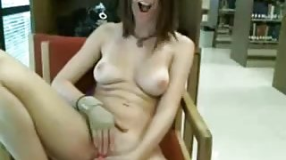 Hot Teen GF Totally Nude At Public Library