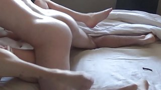 Step-Daughter w/ Perfect Bush Wakes Up To Quickie