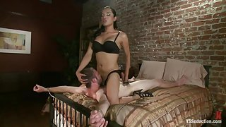 Handcuffed Guy Gets His Mouth And Ass Fucked Hard