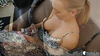 Hayley Marie Downblouse views of her big natural British tits