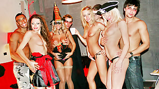 Hot horny college sluts celebrate Halloween