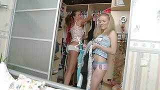 Titted youthful girlfriends drilled in all holes