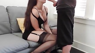 Perfect deepthroat blowjob private show