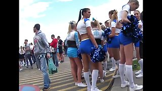 Tight Teen Cheerleader Bootys!