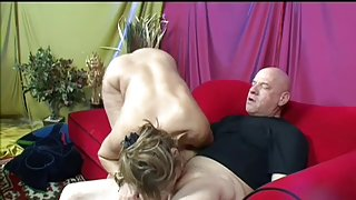 Mature gets her sexy toes licked and fucked by her man