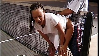 Fucked on tennis court