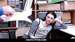 ShopLyfter - Hot Teen Stripped Down &amp_ Fucked By 2 Cocks