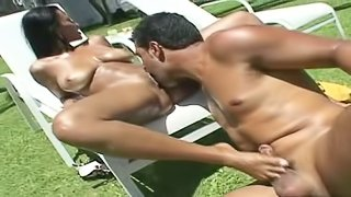 Lana Paes Brazilian Brunette Gets Tanned During Outdoors Sex