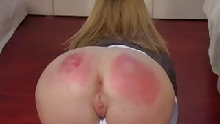 A Strict English Caning is Recreated in Porn Video