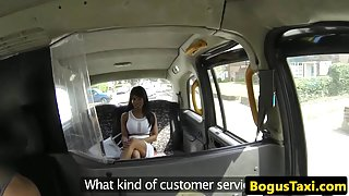 Ebony brit taxi escort bouncing booty on cock