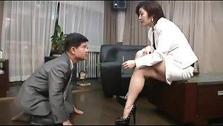 oriental foot femdom smokin' with cigarette holder