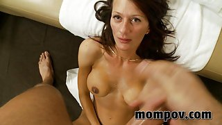 Mid age Texas mom's first porn in pov