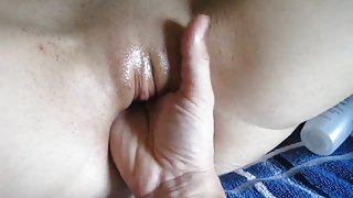 Stretching & Fisting Ex-Gf wide open Pussy