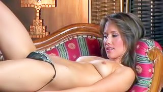 Victoria Anisova is a beautiful brown haired model with natural tits and neatly trimmed pussy. She pulls off her black thong panties and poses totally naked for your viewing pleasure
