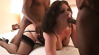 Pawg slut getting stuffed by huge schlong that is black