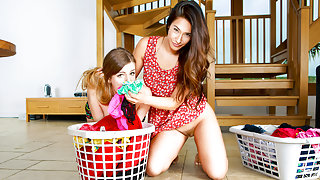 Eva Lovia & Stella Cox in Eva's Dirty Laundry - DigitalPlayground
